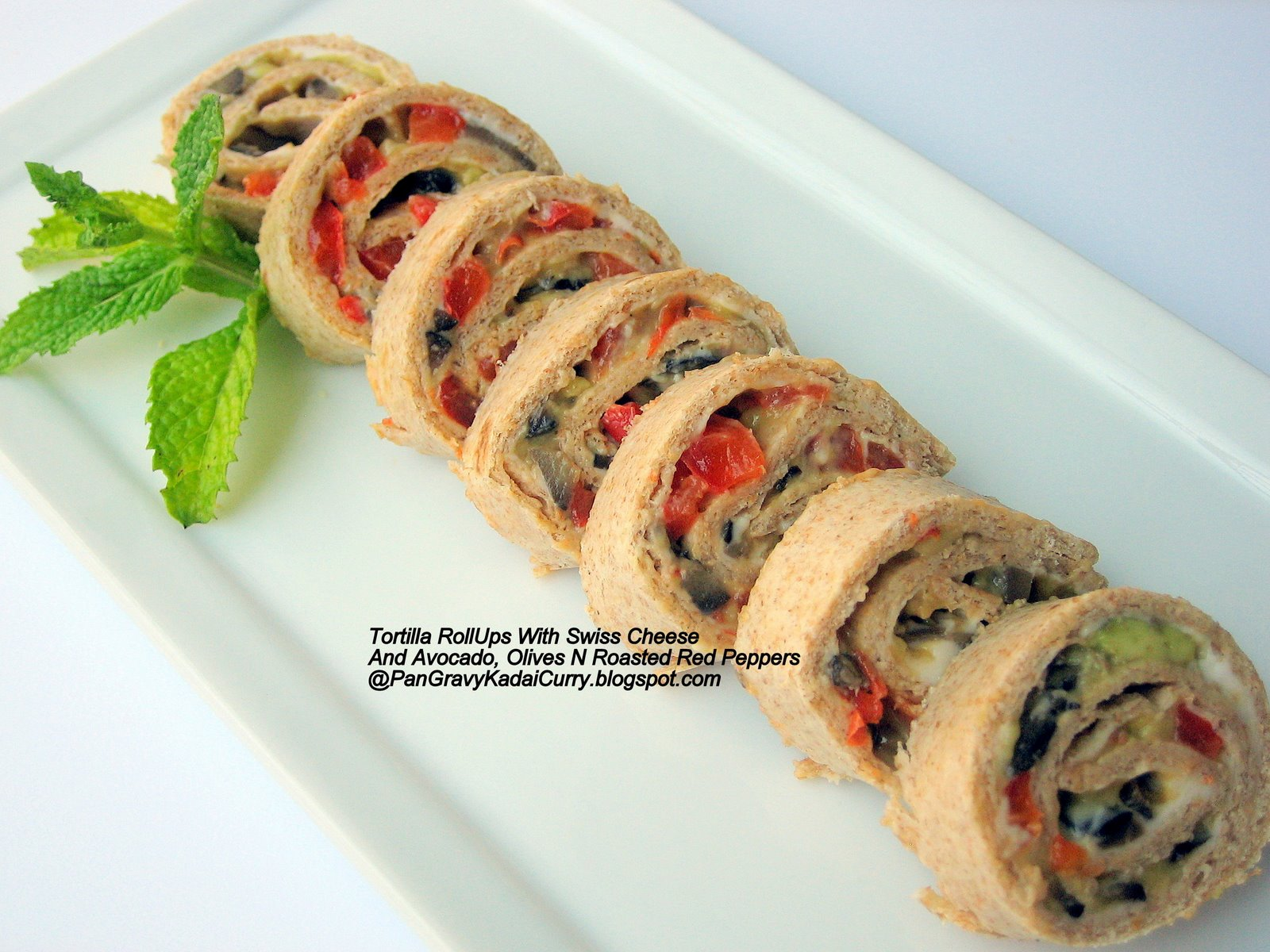 Tortilla roll-ups and the winner of CSNStores gift e-card giveway
