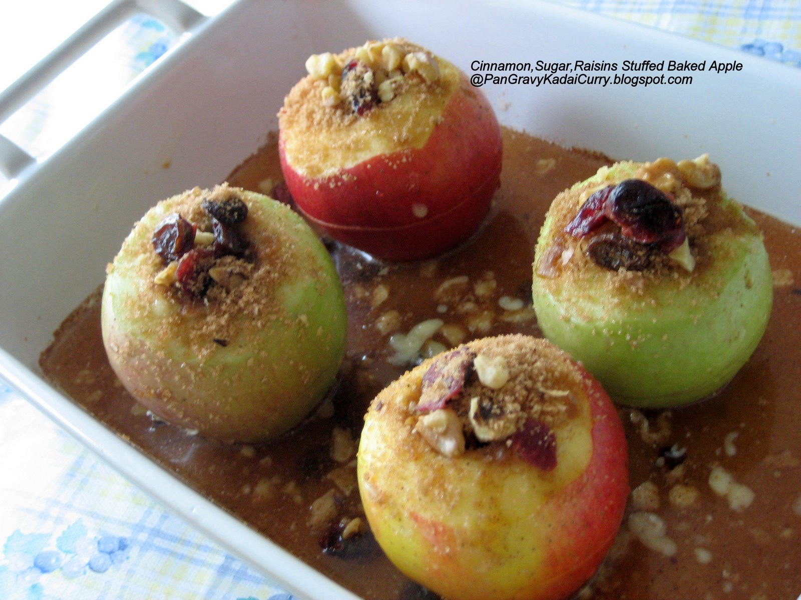 Place the apples in the pan and bake at 350 degrees F for 50 minutes ...