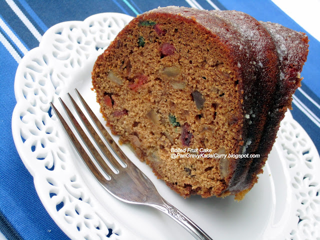 pan gravy kadai curry boiled fruit cake