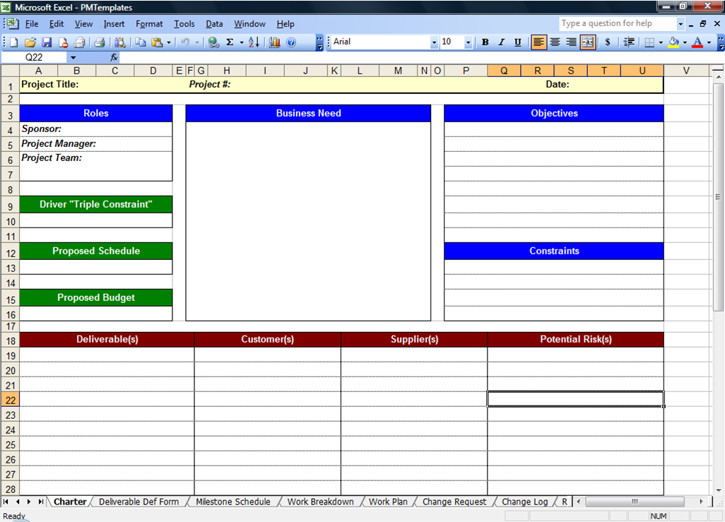 Free Project Planner Template Prepossessing Free Project Template  Zoro.blaszczak.co