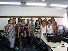 Colegas do curso de Introdução à Educação Digital-Blog Educativo realizado no NTE Osório