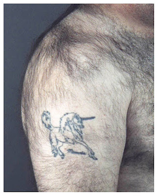 one word tattoos. one word: manscaping. the