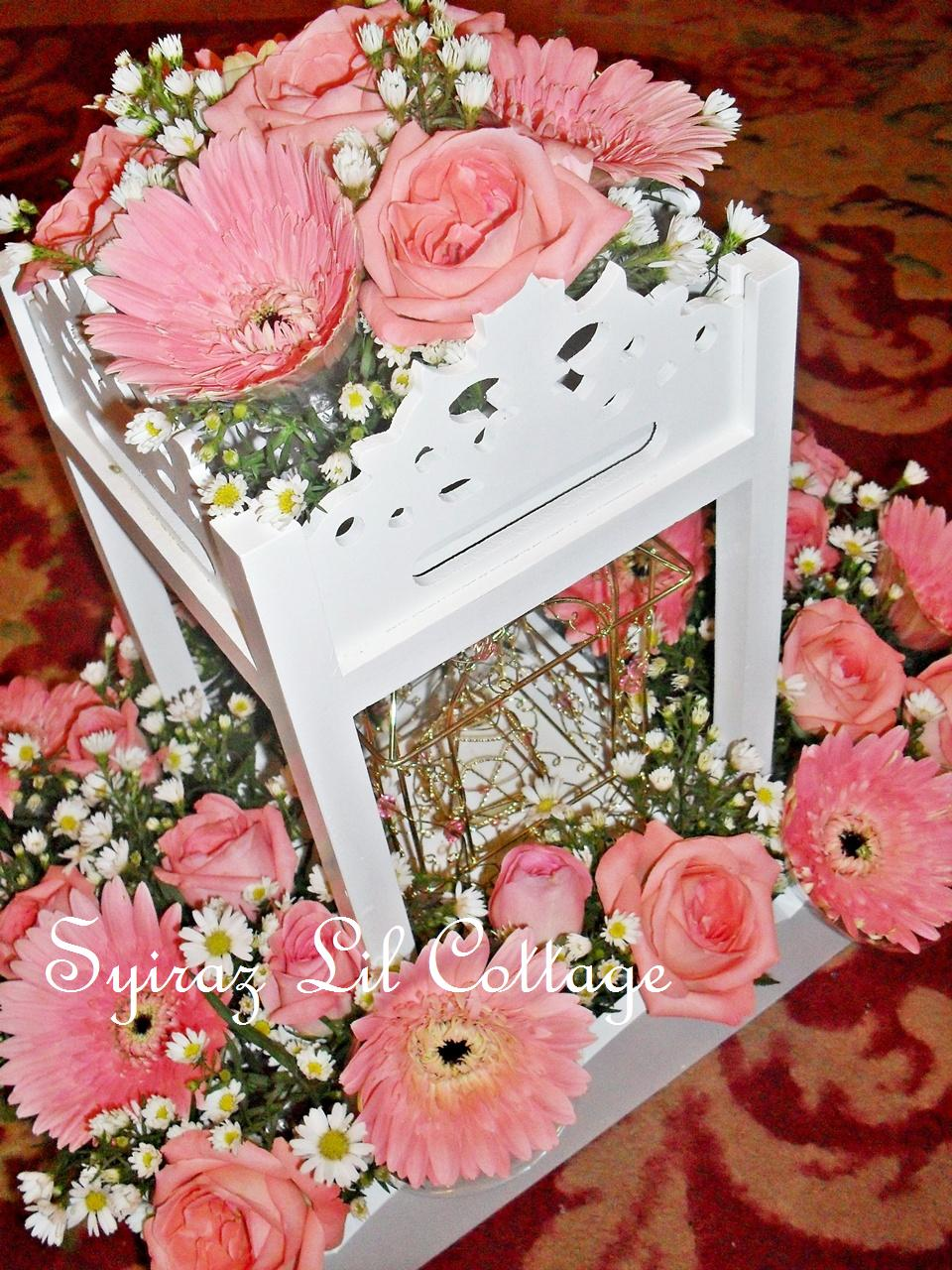 Weddings At Syiraz Lil Cottage Pink White Fresh Flowers Hantaran