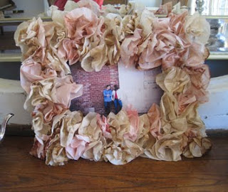 Coffee Filter Engagement Party Frame