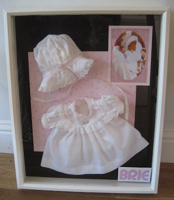 Shadow Box with Baby Clothes. Wedding Toast to my Daughter.