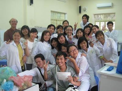 Dr Michael Stuart Reid UCD teaching in Hanoi.