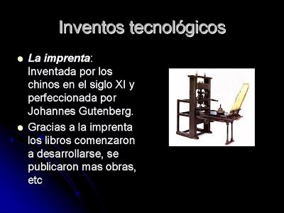principales inventos tecnologicos del renacimiento