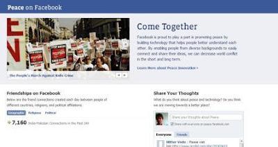 Peace on facebook
