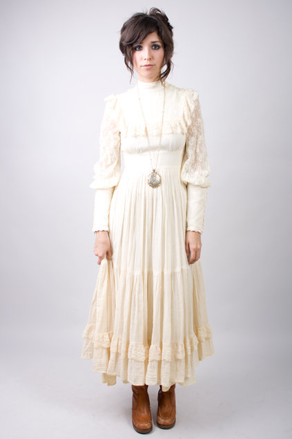 well if so here's another hippie wedding dress or prairie or backyard