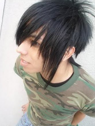 black hair emo guy. Labels: lack hair, emo,