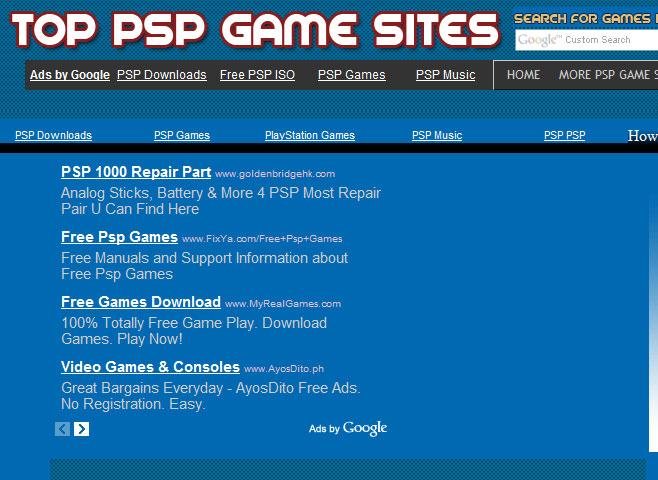 Free psp games download 2012