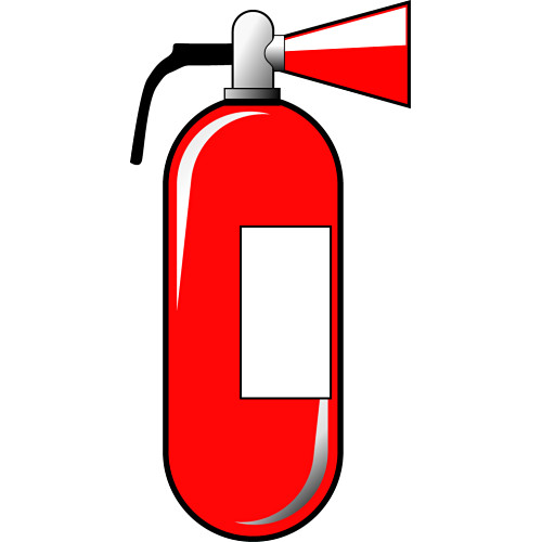 red fire extinguisher eraser