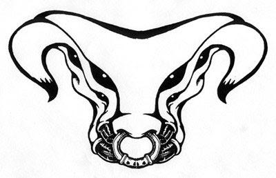 Taurus Symbol Tribal Tattoo