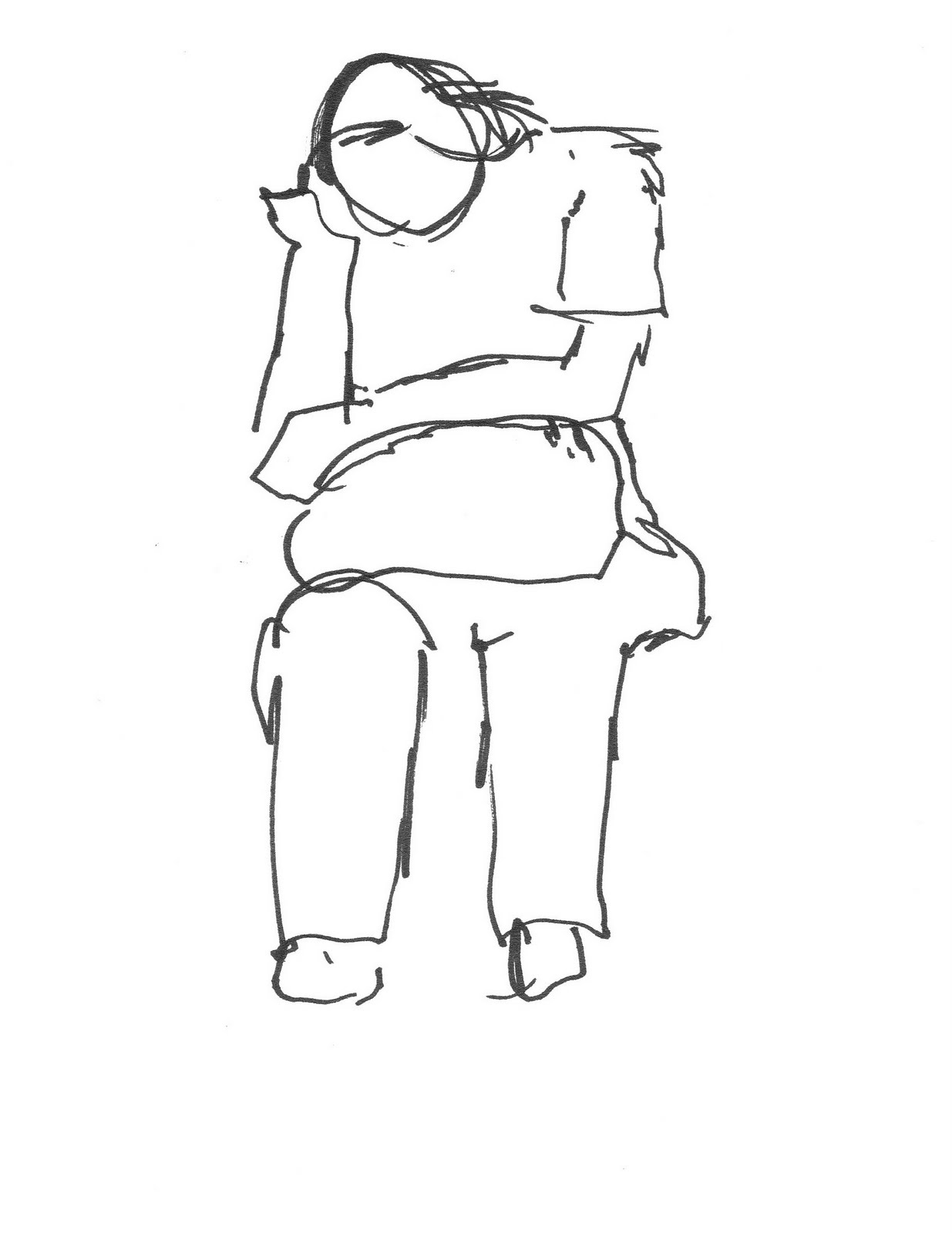 how to draw a girl leaning