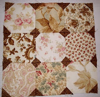 Flagstone block from The Graceful Garden Jacobean Quilt