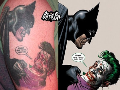 BATMAN TATTOO ART: Heath Ledger JOKER From The Dark Knight Movie,