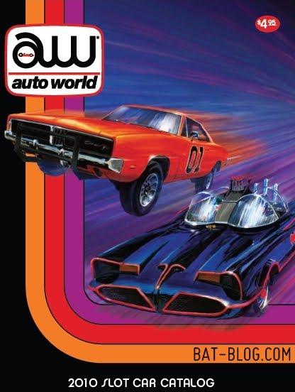 New 1966 batman tv show batmobile slot car race set from auto world!