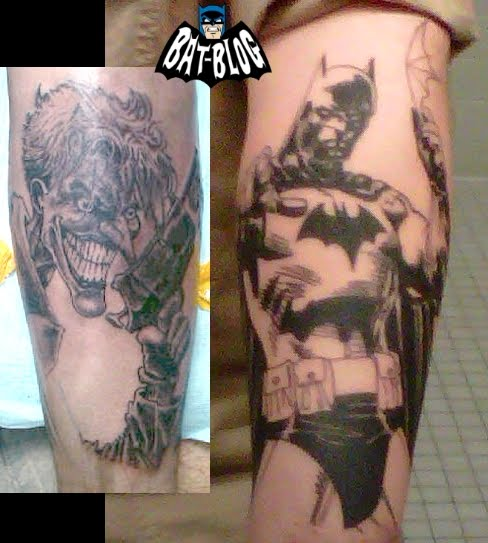 Tattoo Art done on himself that was totally inspired by the comic book