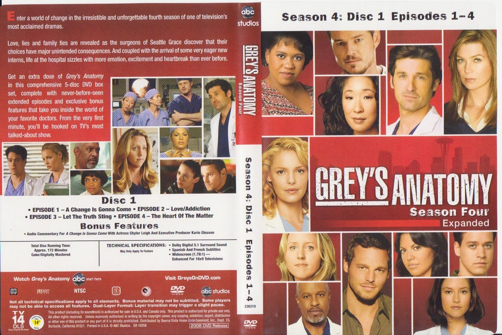 Series Vicious Greys Anatomy Season 4 Covers