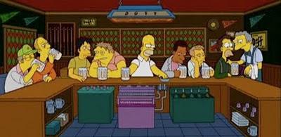 La última cena - Simpsons