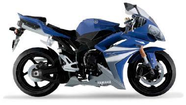 Recortable de moto Yamaha... sí, es de papel