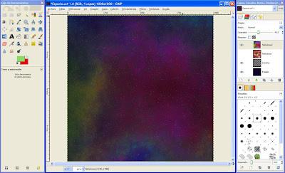 Tutorial GIMP - crear escena espacial