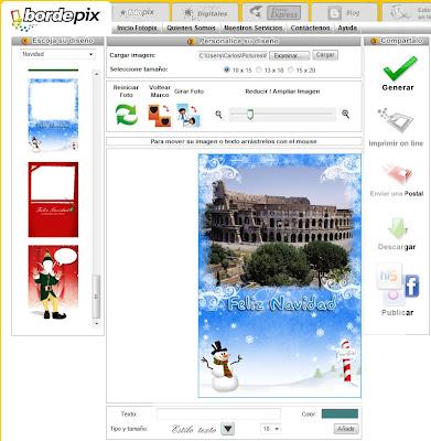 Añadir marco navideño a imágenes - BordePix