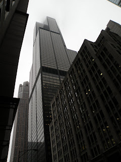 Willis Tower (Sears Tower) lost in the clouds