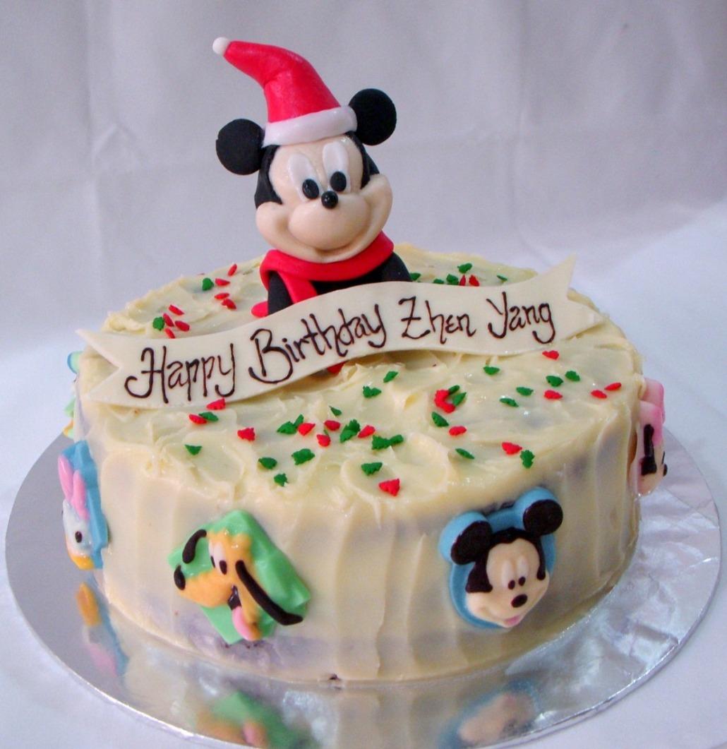 Bearylicious Cakes Christmasy Mickey Birthday Cake
