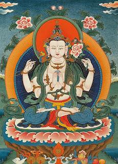 Buda sobre flor de loto