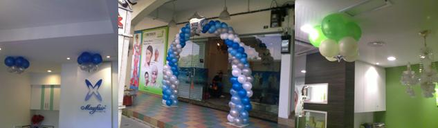 May Fair Ipoh Skin and Body Treatment Balloon Decor March 2010