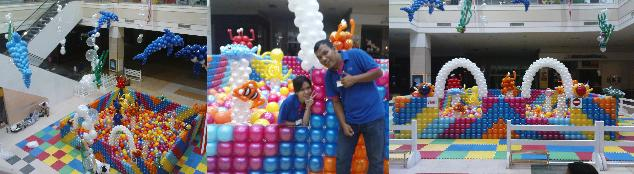 Jusco Seremban Ocean Theme Balloon Decor (Beauty Balloon Task)