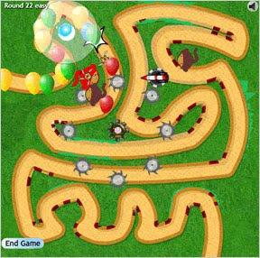 juego de estrategia Bloons Tower Defense 3