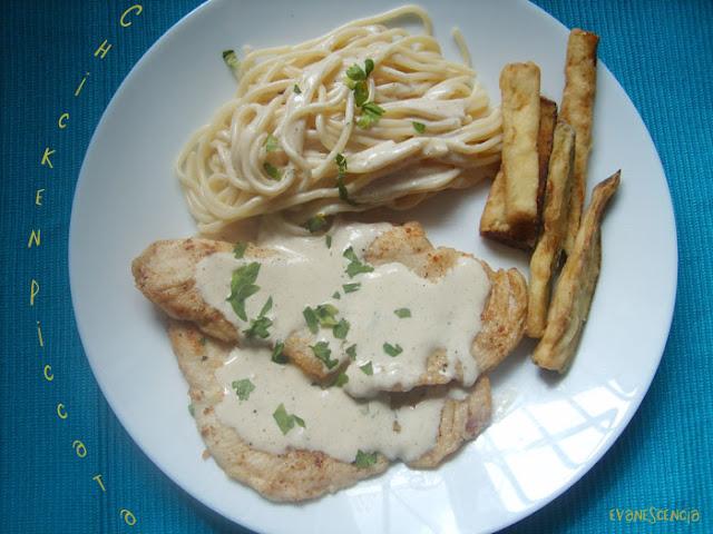 plato de chicken piccata