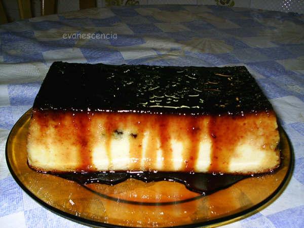 pudding de naranaja con pasas