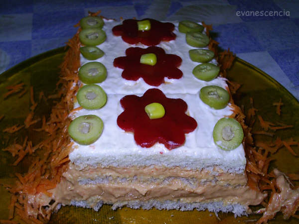 corte pastel atun