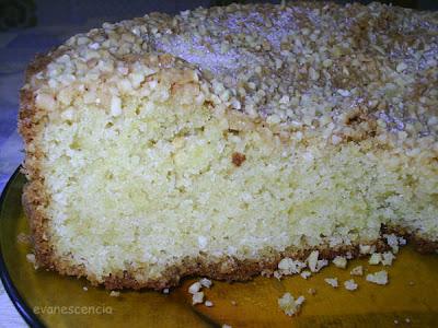 corte del bizcocho de mantequilla