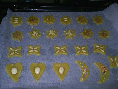 pastas decoradas antes de hornear
