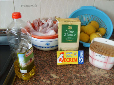 ingredientes para los muslitos al limon