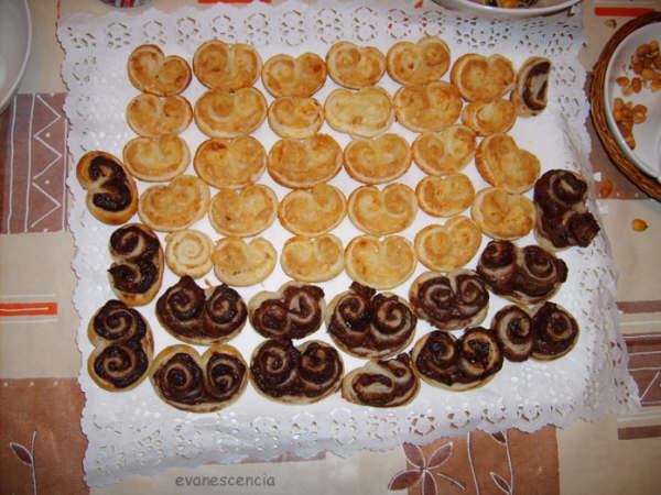 palmeritas de hojaldre dulces