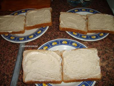 pan de molde con mayonesa