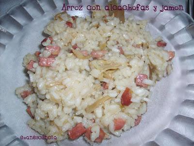 arroz con alcachofas y jamon serrano