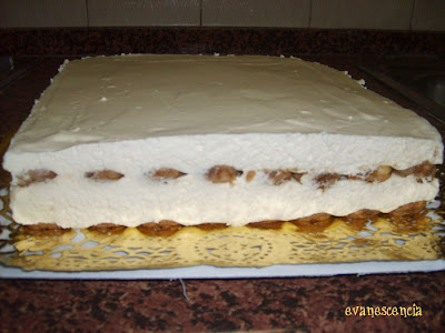 tiramisu antes de decorar