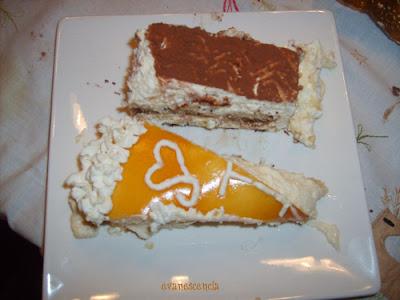 tiramisú y tarta mousse de limón