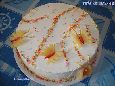 tarta mariposas terminada