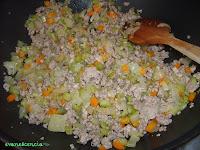 sofreír carne con verduras