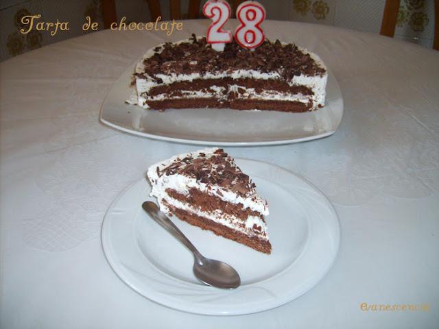 ración tarta chocolate