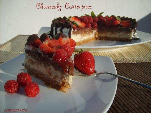 tarta de queso con frutas rojas