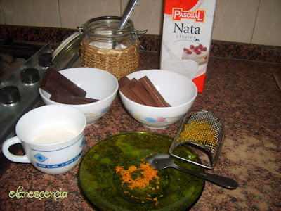 ingredientes relleno chocolate