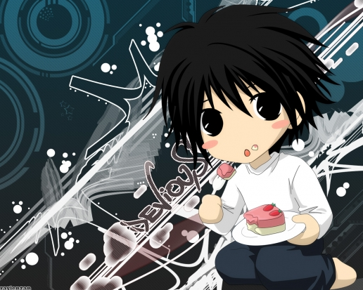 Chibi L Death Note Wallpaper | Wallpaperholic
